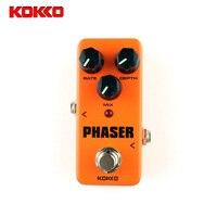 KOKKO Mini Pedal Phaser Guitarra Pedal Efectos De Alta Calidad Portatil Guitar Parts Accessories