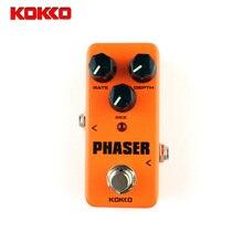 KOKKO Mini Pedal phaser Guitarra Pedal Efectos de Alta Calidad Portatil Guitar Parts & Accessories