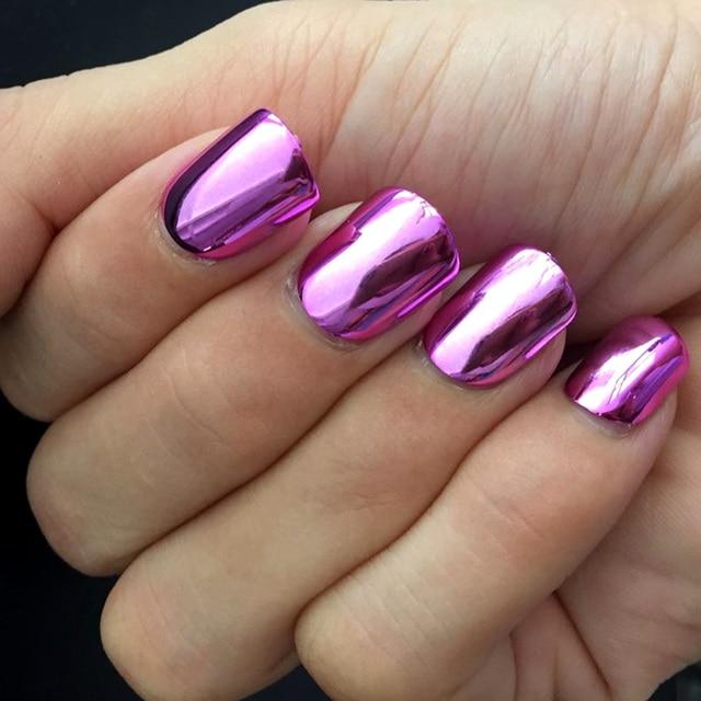 Metallic bright pink false nail 24pcs acrylic nail art false nail metallic bright pink false nail 24pcs acrylic nail art false nail tips for manicure n08 prinsesfo Choice Image