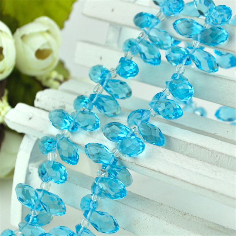 100//500pcs White AB Drop Water glass crystals Charms beads bracelet Jewelry NEW