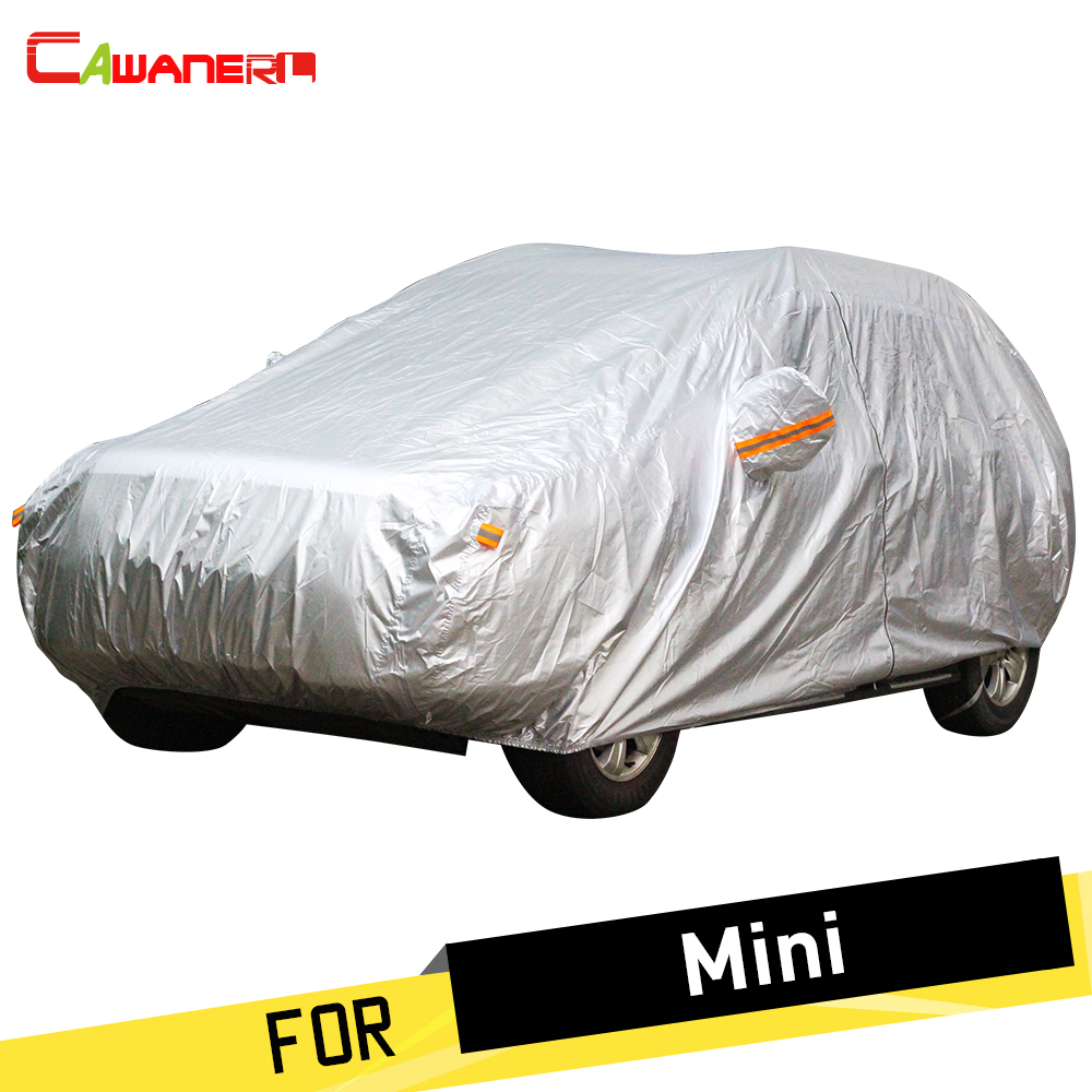 Cawanerl Car Cover Auto Outdoor Sun Anti UV Rain Snow Protector Cover Fit For Mini Clubman Cooper Countryman One Paceman CoupeCawanerl Car Cover Auto Outdoor Sun Anti UV Rain Snow Protector Cover Fit For Mini Clubman Cooper Countryman One Paceman Coupe