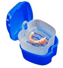 Dentadura banho caixa caso dental dentes falsos caixa de armazenamento com pendurado recipiente líquido acessórios caixa de armazenamento 2019