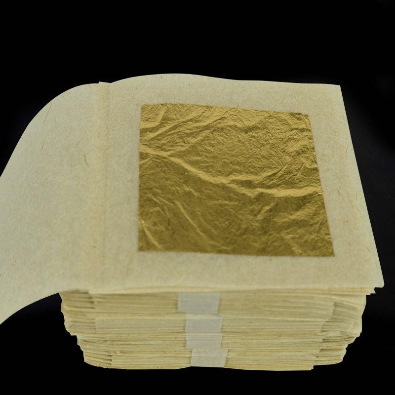10 sheets 24k pure genuine gold leaf foil sheet edible. Black Bedroom Furniture Sets. Home Design Ideas