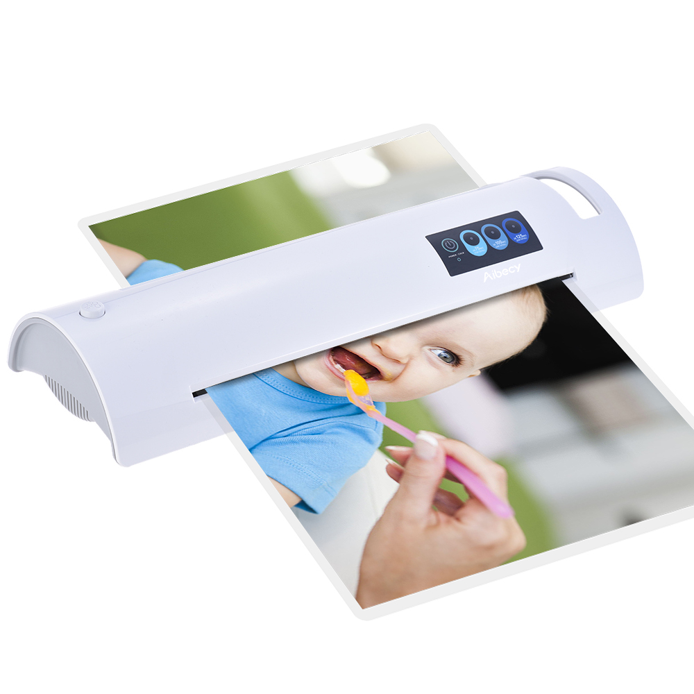 A3 Photo/Paper/Document Hot Laminator Quick Warming Up Fast Laminating Speed Temperature Adjustable for 75/100/125mic Thickness