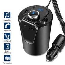 Чашки-стойки Bluetooth MP3 USB Зарядное устройство Беспроводной Bluetooth fm-передатчик игрок рук-свободный телефон автомобильный адаптер Комплект 5 V 2.1a USB Зарядное устройство
