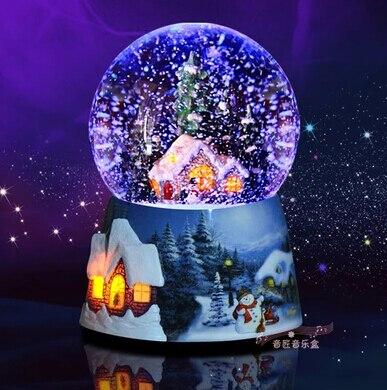 Bola de cristal navidad de luz activado por voz bola de - Bola nieve cristal ...