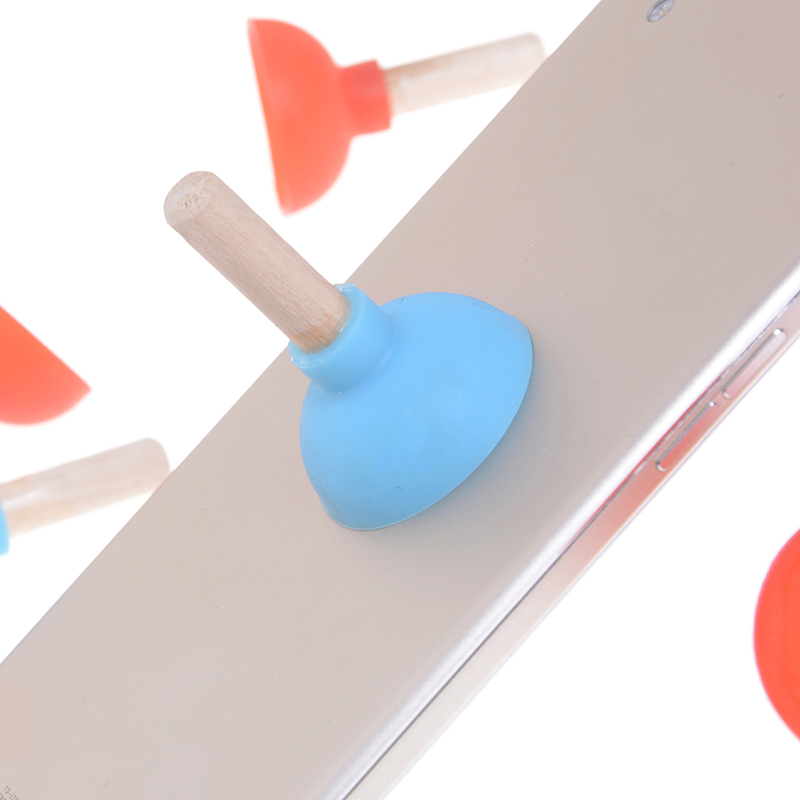 2 Pcs Lustige Mini Pumpen Wc Telefon Sucker Stand Spielzeug Für Kinder Kinder Erwachsene Spaß Plunger Halter Für Handy Geschenk Heißer Verkauf