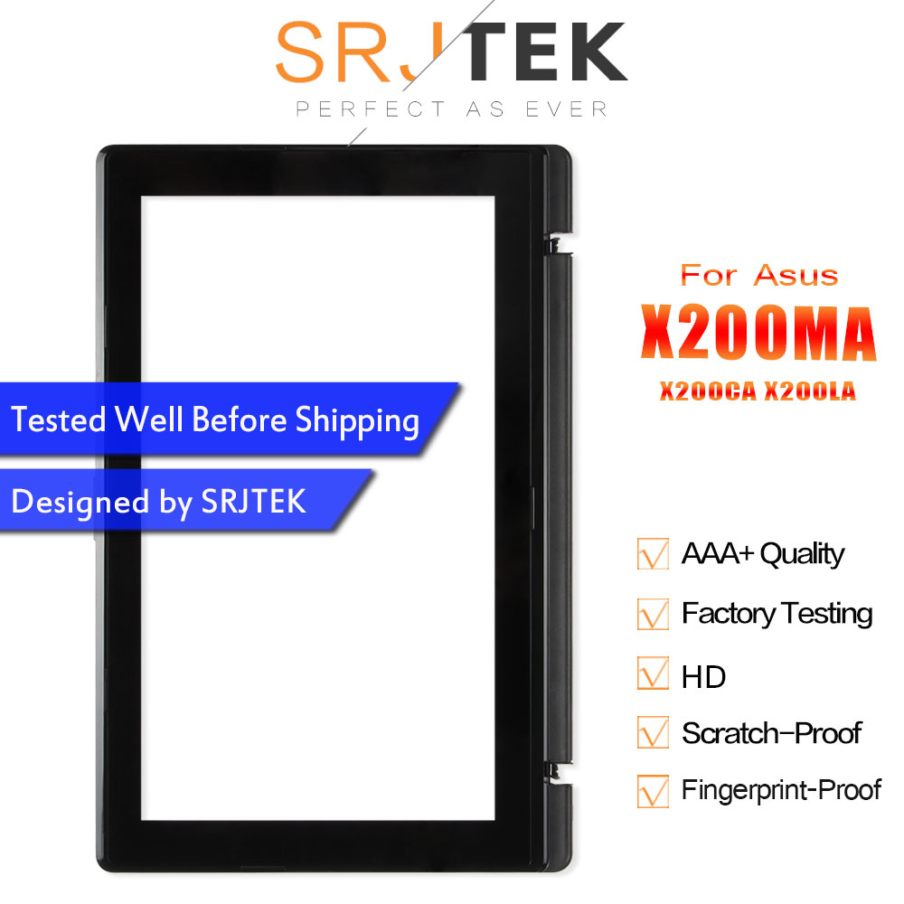 Srjtek 11.6 For Asus Vivobook X200MA X200CA X200LA Digitizer Touch Screen Glass with Frame TCP11F16 V1.1 13NB02X6AP0201Srjtek 11.6 For Asus Vivobook X200MA X200CA X200LA Digitizer Touch Screen Glass with Frame TCP11F16 V1.1 13NB02X6AP0201