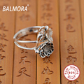 New Retro 100% Real Pure 925 Sterling Silver Jewelry Thai Silver Rings for Women Lover Party Gifts Bijoux Free Shipping SY20737