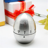 Stainless Steel Kitchen Timer Egg 60 Minute Countdown Cooking Mechanical Alarm Dial Timers Reminder Bell