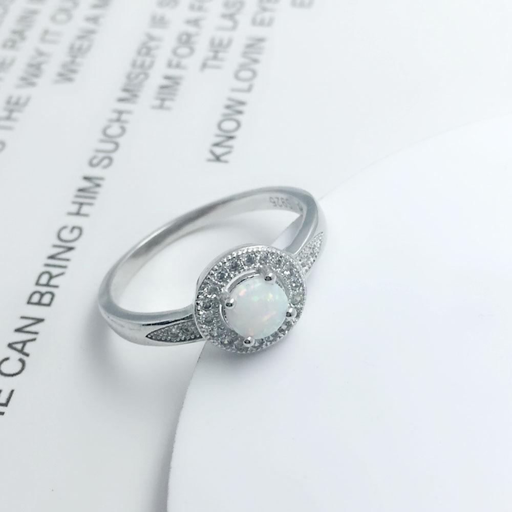 خاتم فضة بحجر جميل 9