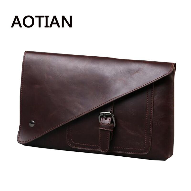 2017 High Quality Vintage Business Hand Bag Men Clutch Bags Long PU Wallet Luxury Brand Envelope Male Wallets With Wristlet stacy bag 122415 hot sale man hand bag men vintage envelope bag male clutch