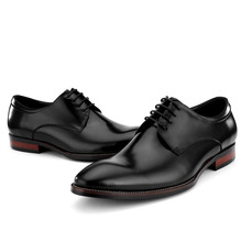 QYFCIOUFU Hot lace-up Oxford Shoes Classic Handmade Bespoke Men's Dress Shoes lace-up Flat Wedding Office Designer formal shoes