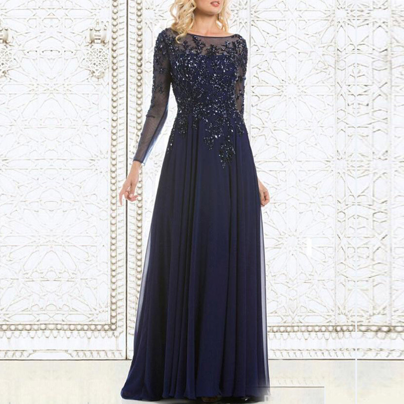 2017 Simple Design Mother Of The Bride Dresses Chiffon See Through