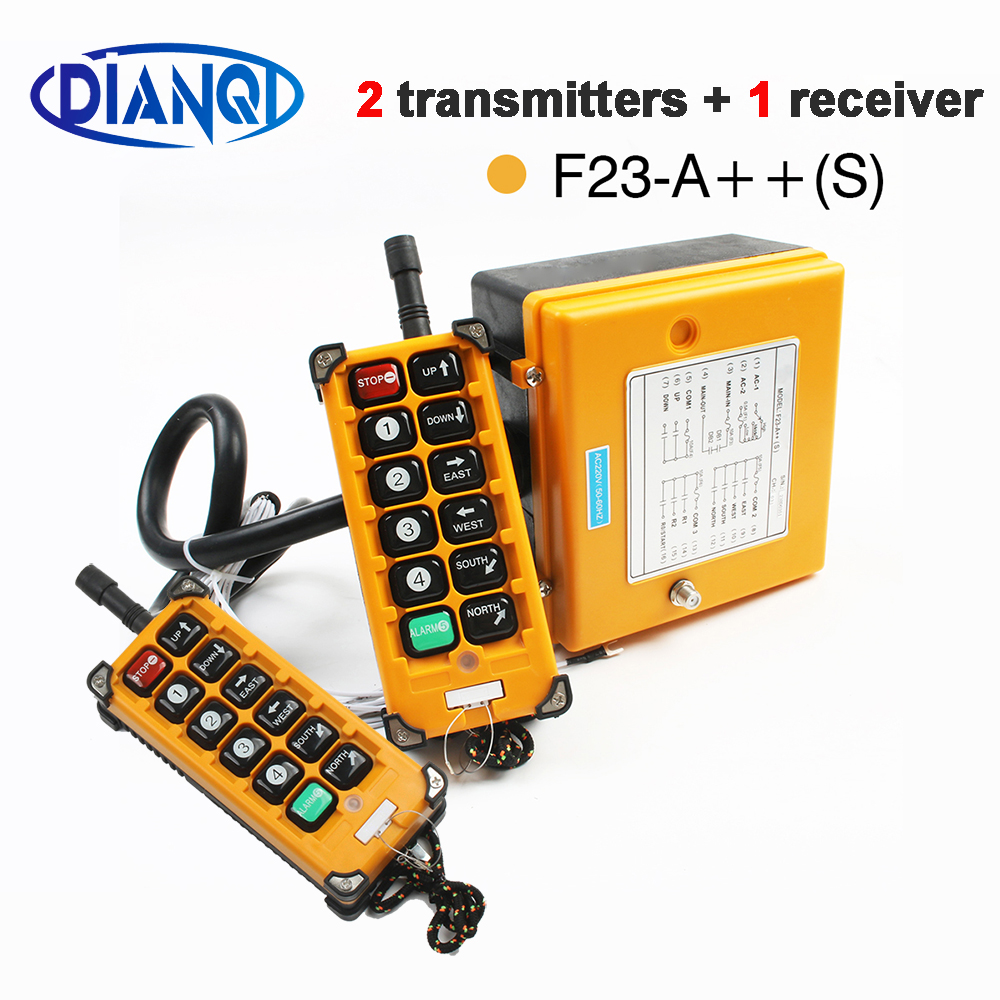12V 24V 36V 220V 380V Wireless Crane Remote Control F23-A++S Industrial Remote Control Hoist Crane Push Button Switch Yellow12V 24V 36V 220V 380V Wireless Crane Remote Control F23-A++S Industrial Remote Control Hoist Crane Push Button Switch Yellow
