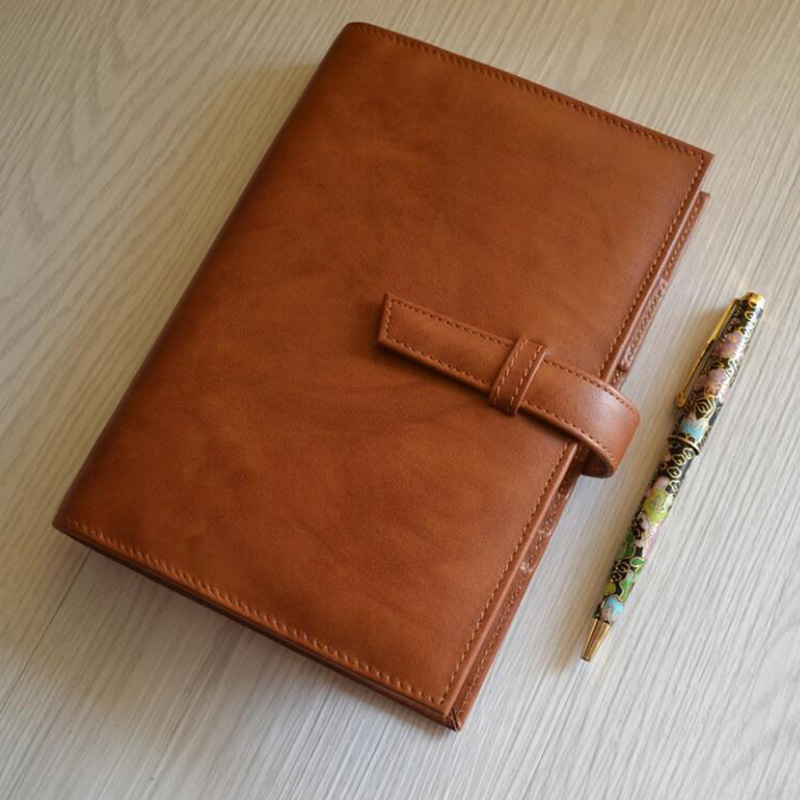 Luxury Genuine leather A5 Notebook A6 Diary Leather Mini A7 Notepad Loose leaf Spiral Binder with Rings Travelers Office Supply
