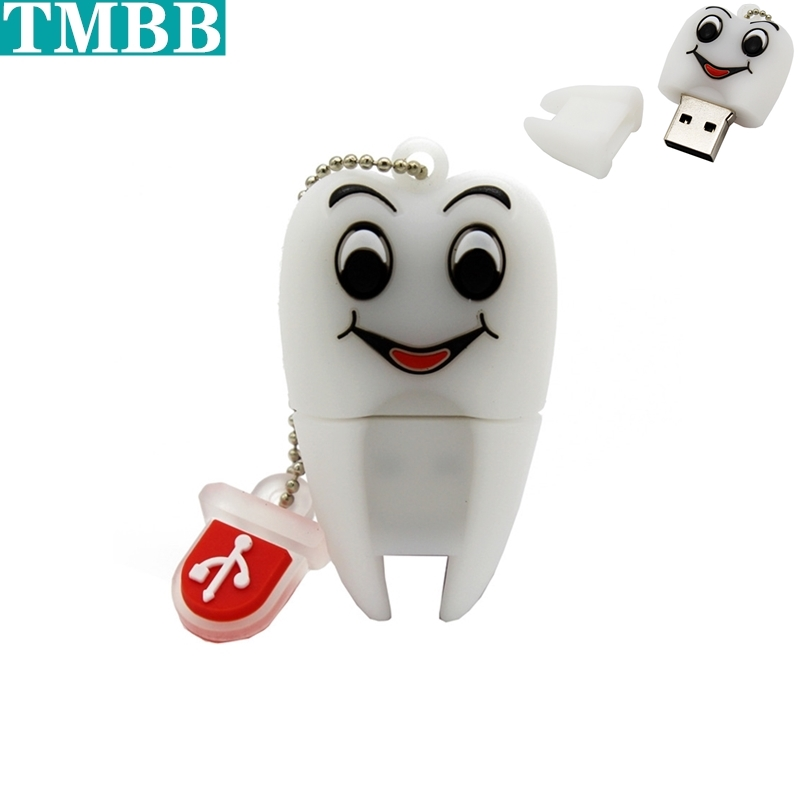 BiNFUL 2019 Pen Drive Gift Teeth Cute Model 8GB 16GB 32GB 64GB Usb Flash Drive, Tooth Flash Memory Stick Pendrive Dentist U Disk