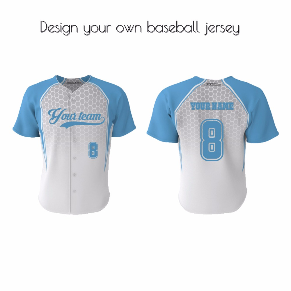 Design your own t shirt cheap australia - Custom Cheap Wholesale Plain Blank Baseball Jerseys Worldwide Button Stylish Baseball Jersey China Mainland