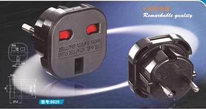 Wielkiej brytanii, aby europejskie Euro ue AC ładowarka podróżna przejściówka Outlet Converter Adapter 10A/16A 240 V czarny New Arrival