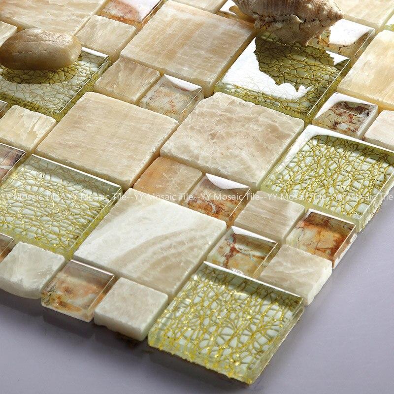 Creme Marfil Hinzufugen Verbundglas Mosaik Fliesen Fur