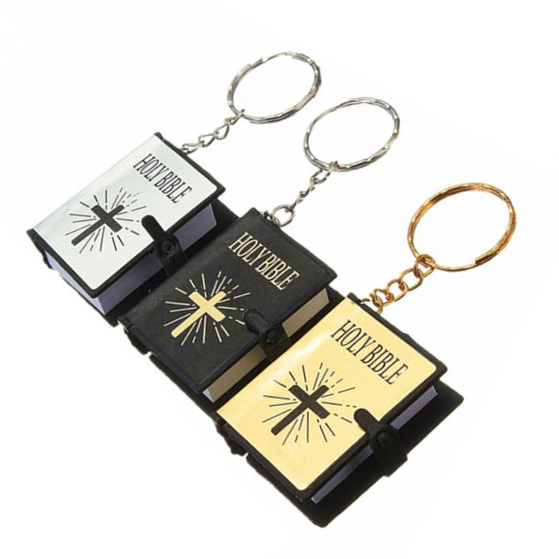 Key Ring Mini Delicate Holy Bible Book Keychain Decoration Key Chain For Men