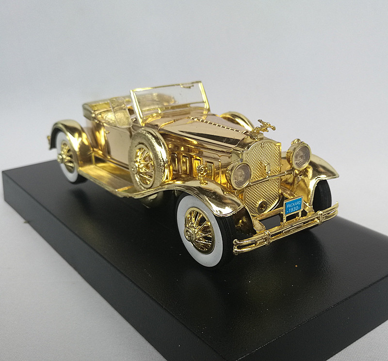 Alloy gold plating collection metal classic car model vintage cars ...