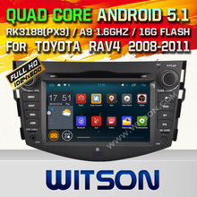WITSON Quad Core Android 5.1 CAR DVD RADIO GPS for TOYOTA RAV4 Capacitive touch screen 16GB Rom Mirror Link Free Shipping