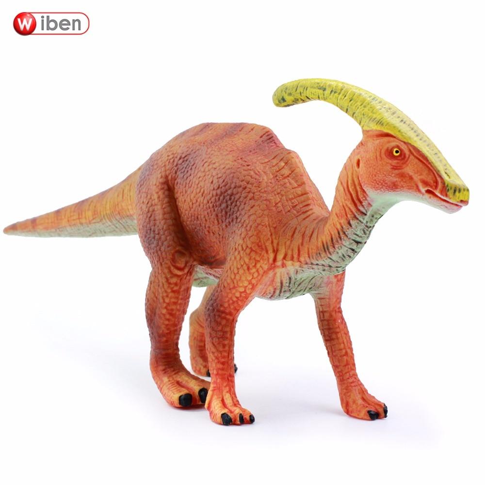 Wiben Jurassic Parasaurolophus Dinosaur Toys Action Figure Animal Animal კოლექცია საჩუქრები ბავშვებისთვის მაღალი ხარისხის Brinquedos