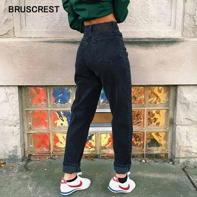 Summer black high waist jeans skinny boyfriend jeans for women blue vintage jeans denim patns women streetwear 2019 korean style