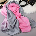 180*90 Loog 5 Colors Luxury Brand Scarf Pashmina Echarpe Wrap Shawl Women's Scarves Silk Camellia Wrap Gradient Beach Towel