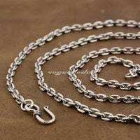 Linsion 4 мм площади звено цепи 925 Серебро кулон соответствующий Цепочки и ожерелья 8l010 Длина 18 до 36 дюйм(ов) доступны