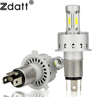 Zdatt 1Pair Super Bright H4 Led Bulb 90W 12000Lm Headlights Car Led Light H7 H11 HB3