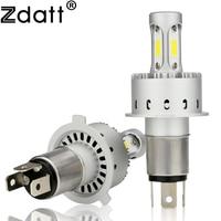Zdatt 1Pair Super Bright H4 Led Bulb 90W 12000Lm Headlights Car Led Light H7 H11 HB3