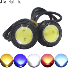 1Pcs Car Daytime Running Lights Source Backup Reversing Parking Signal Lamp Waterproof 18mm 23mm Black Led Eagle Eye Eyes DIY