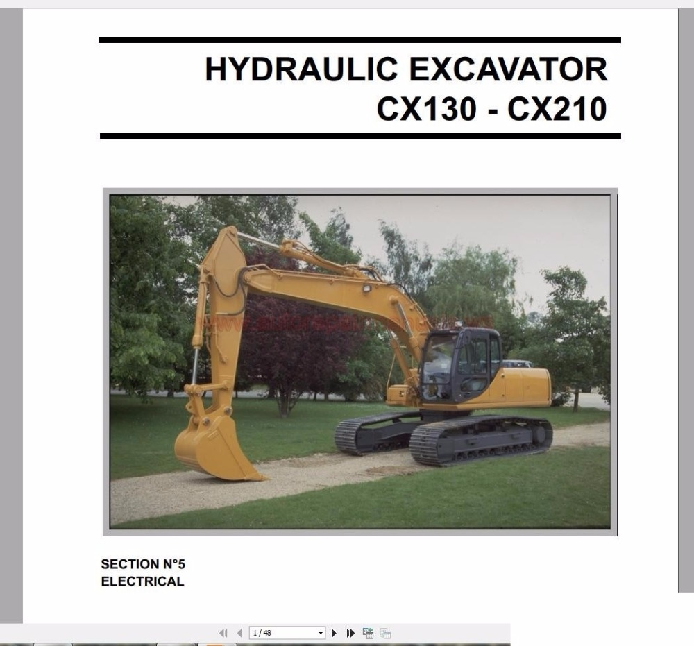 Case Crawler Excavators Service Manual, Operators Manual & Schematic Full  DVD