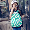 Preppy Style Striped Women Book Bag Ladies Backpack Canvas School Bag Backpacks for Teenage Girls