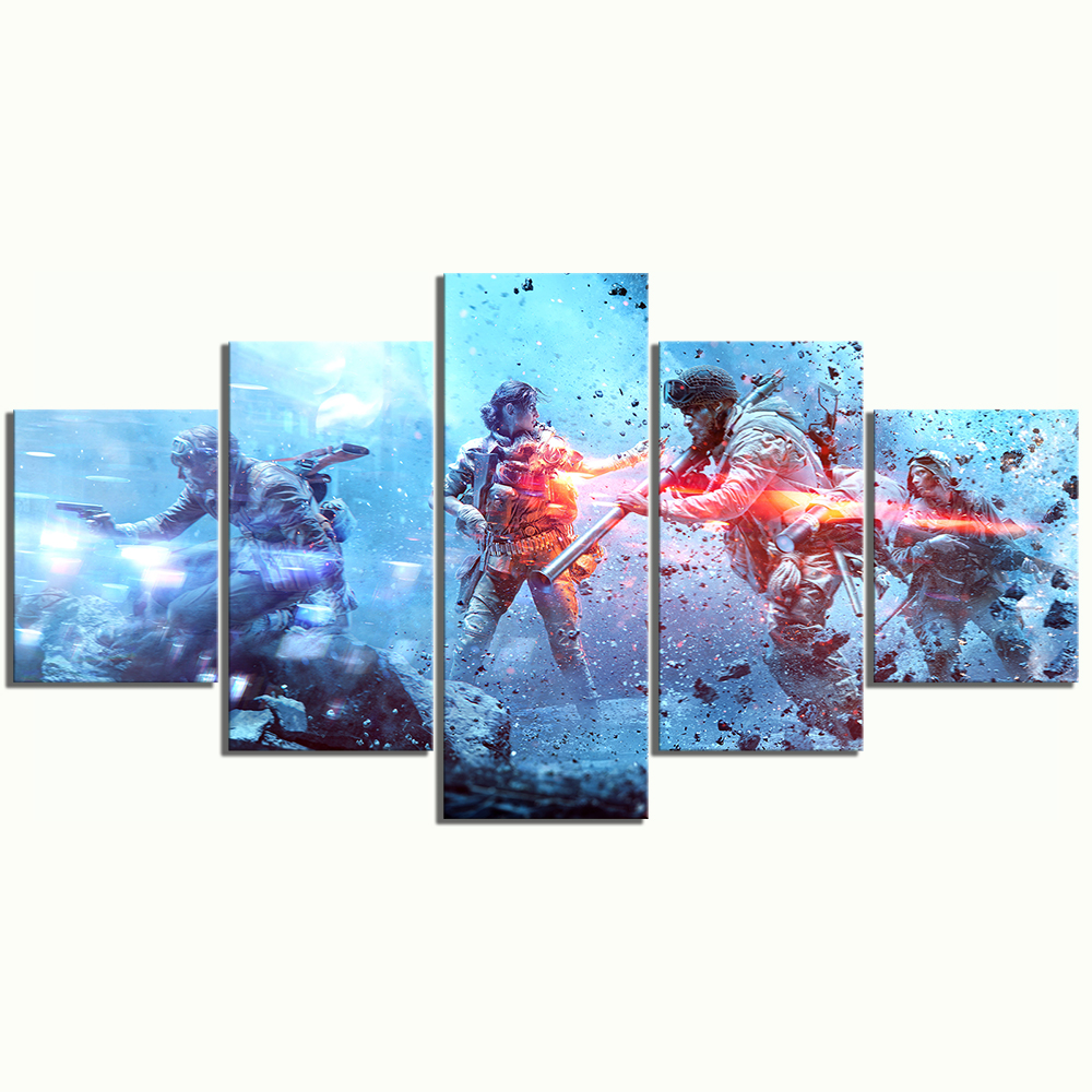Game Battlefield 5 HD Print Painting 5 Pieces Canvas Painting Artwork Paintings on Canvas Wall Art for Home Decorations in Painting Calligraphy from Home Garden