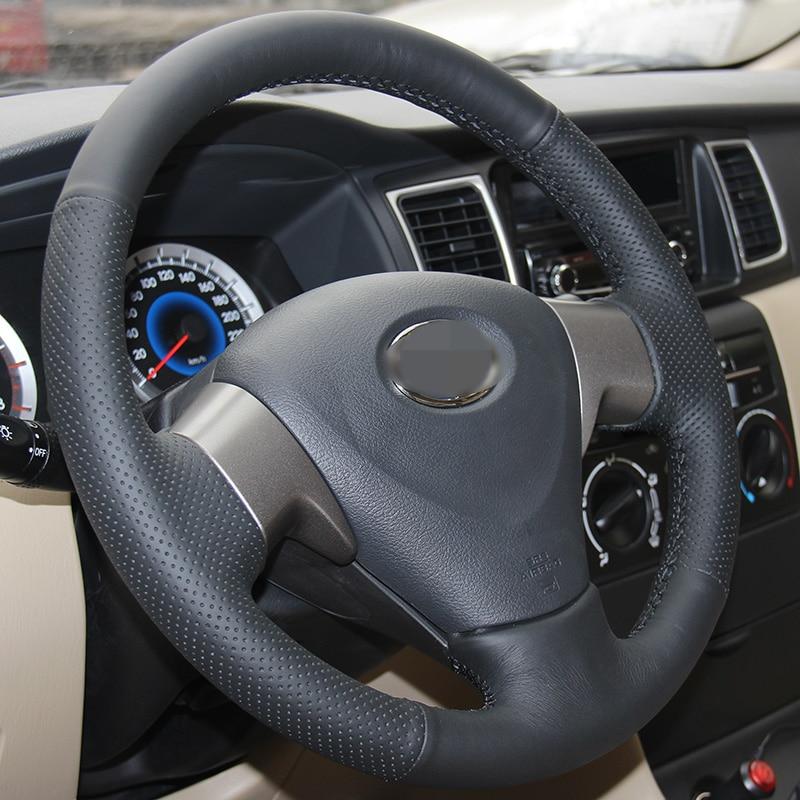Särav nisu Käsitsi õmmeldud must Kunstnahk Toyota Corolla - Auto salongi tarvikud - Foto 3