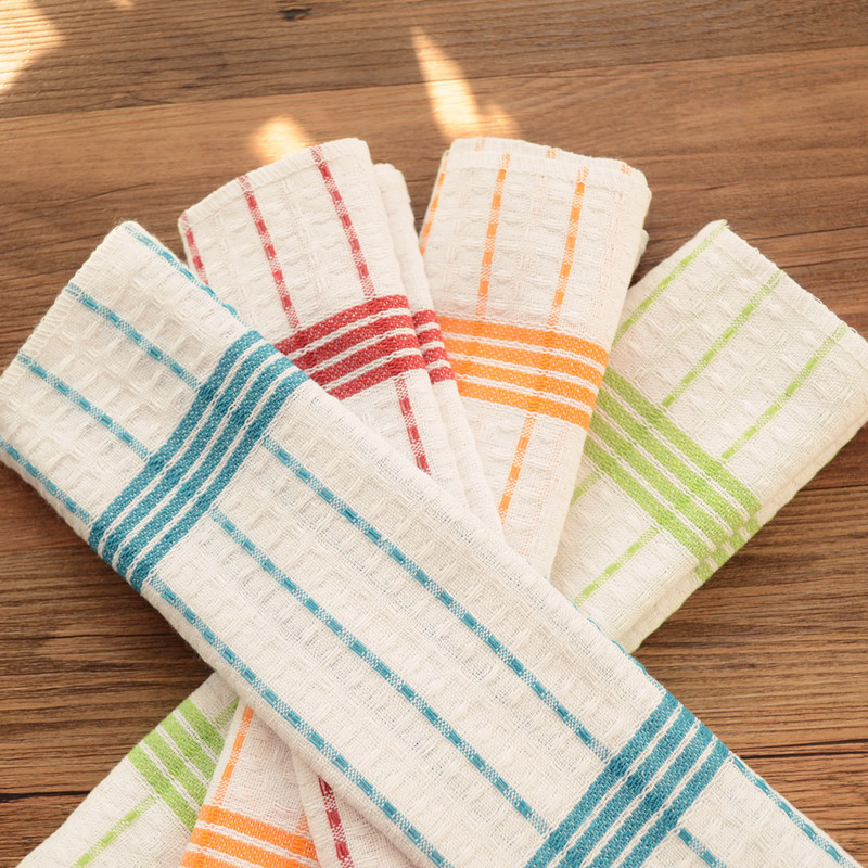 Merveilleux 10pcs Cotton Striped Plaid Kitchen Napkin Four Colors Kitchen Towel  Scouring Pad 30x30cm Good Cotton In Table Napkins From Home U0026 Garden On  Aliexpress.com ...