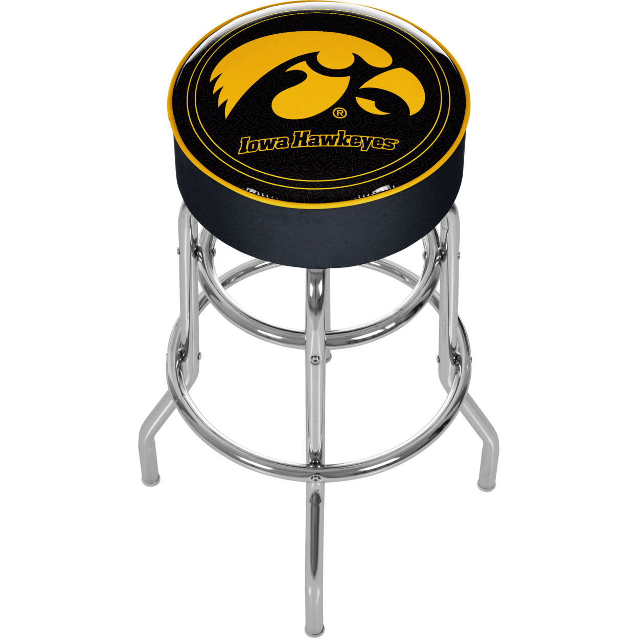 University of Iowa Padded Swivel Bar Stool 30 Inches High