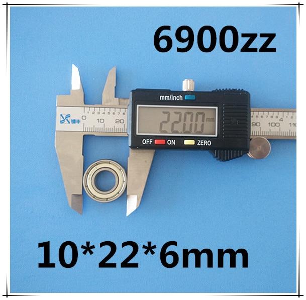все цены на 61900 10pcs Metal sealed bearing Thin wall bearing  6900 6900ZZ 10*22*6 mm chrome steel deep groove bearing онлайн