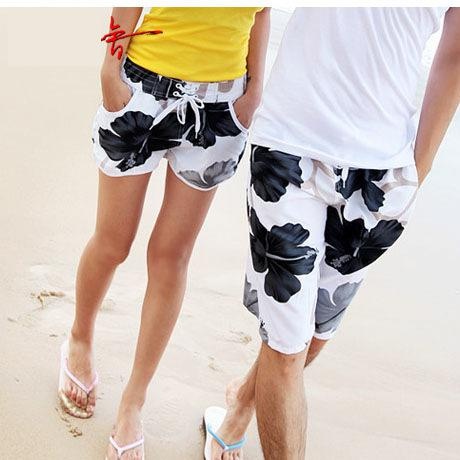 Men's Clothing 2pcs/lot Brand Mens Shorts Swimwear Mens Short Pants Quick Dry Couple Board Shorts Mens Beach Shorts Casual Swimwears P66