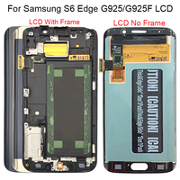 Для Samsung Galaxy S6 Edge ЖК-дисплей G925 G925F SM-G925F ЖК-дисплей Дисплей Сенсорный экран в сборе с рамкой для Samsung S6 Edge ЖК-дисплей