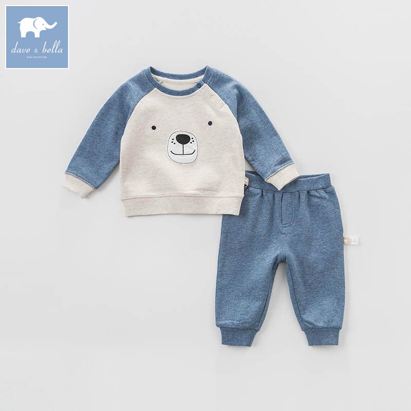 DBA6441 dave bella spring baby boys apricot bear clothing sets toddler children suit high quality toddler outfits Clothing Suits db7386 dave bella spring baby boys clothing sets panda print toddler children suit high quality infant outfits