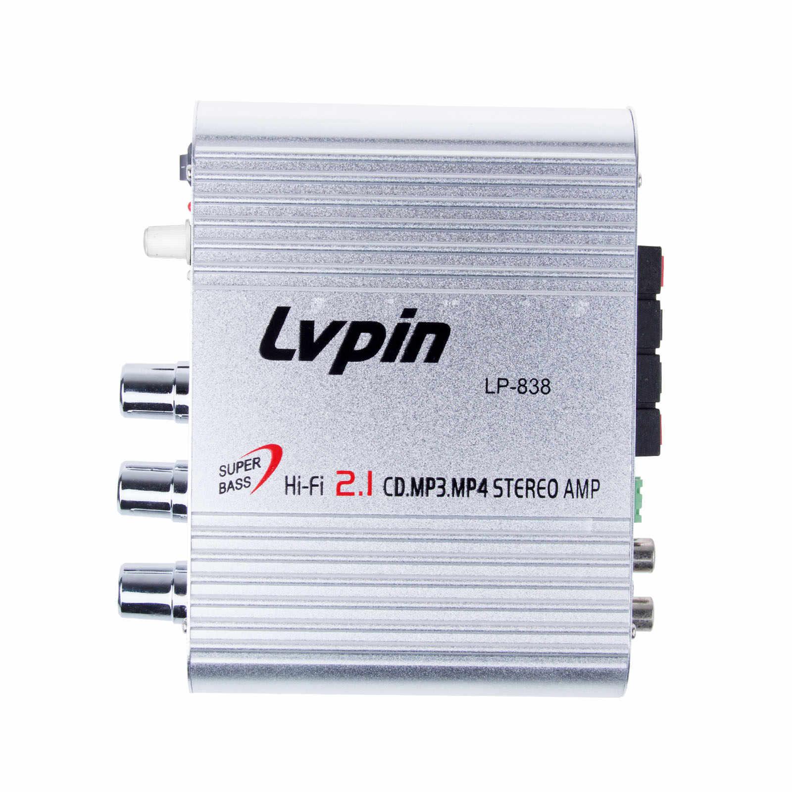 ONEVER автомобильный усилитель 12 V Мини Hi-Fi 2,1 автомобильный усилитель MP3 MP4 стерео аудио плеер Авто звуковой разъем Усилитель-сабвуфер