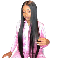 Glueless Lace Front Human Hair Wigs For Black Women Pre Plucked Brazilian Straight Lace Wig With Baby Hair Remy 4X4 Closure Wig