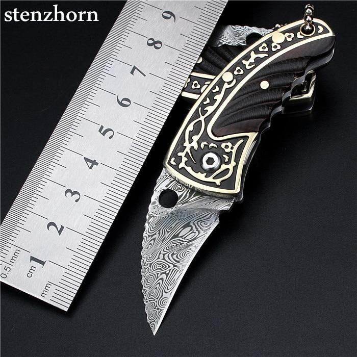 Stenzhorn 2017 Tactical Knife Hot Sale Rushed Swedish Powder Damascus Knives Mini Key Ring Self-defense Portable Folding Upscale hot sale brassica oleracea broccoli extract powder