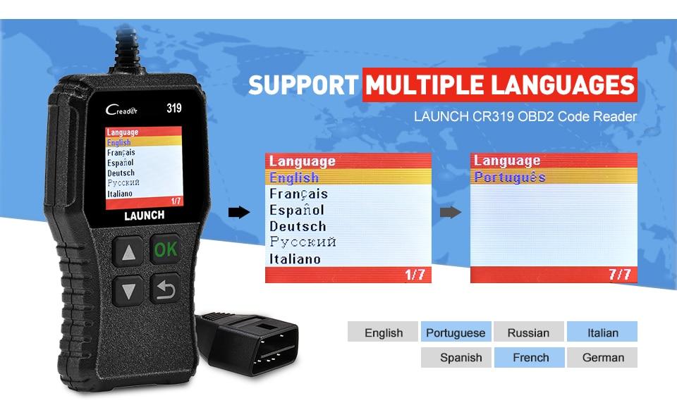 Launch X431 Creader 319 CR3001 Full OBD2 OBDII Code Reader Scan Tools OBD 2 CR319 Car Diagnostic tool PK AD310 ELM327 Scanner