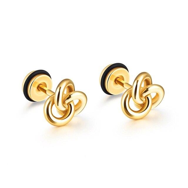 d1fddcbfc FATE LOVE brand Unisex Women men Stud Earrings boy/girl male female Fashion  Jewelry Black