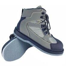 Нахлыстом обувь Аква дышащие кроссовки Rock Спорт болотных сапоги Войлок Подошва Сапоги быстросохнущие без Нескользящая уличная водонепроницаемая обувь Человек